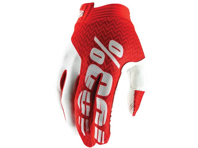 100% iTrack Gloves red/white